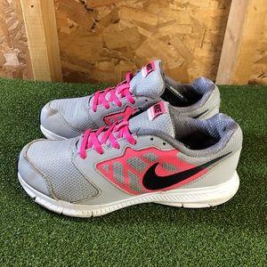 Nike Downshifter 6 Gray Pink Running Shoes Women's 7.5